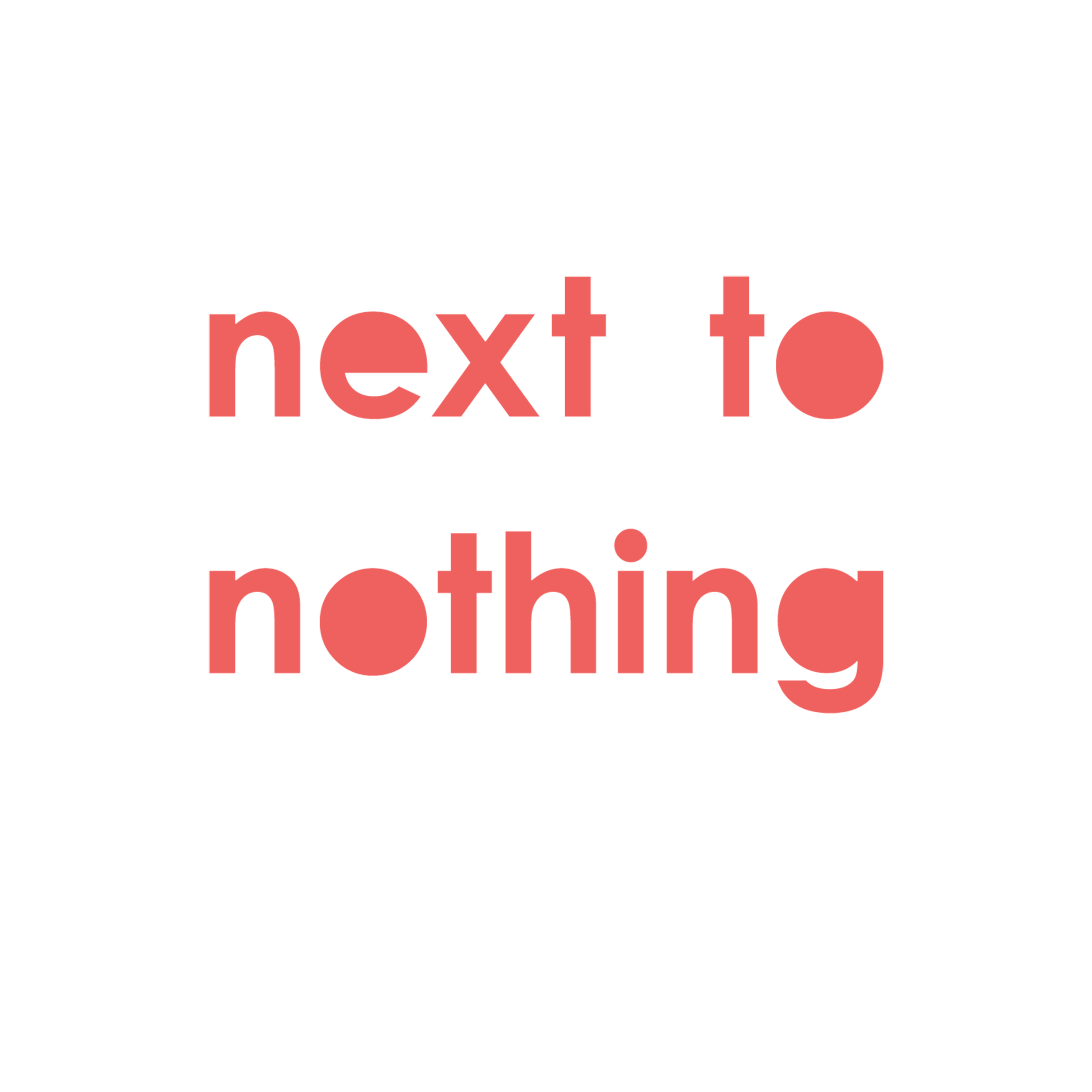 Next To Nothing by Linus Hunkeler Graphic Design Nicole Pfister